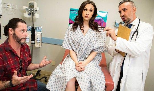 Жена изменяет мужу во время визита к гинекологу