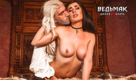 Порно пародия Ведьмак - Владычица Члена