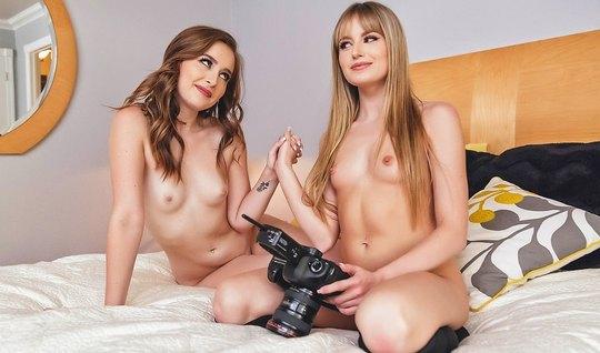 Стройные лесбиянки после фотосессии устроили развратные игры