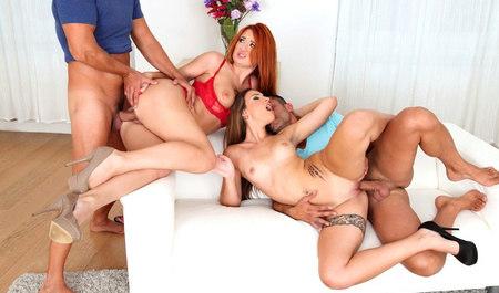 Молодые студенты устроили групповой секс на квартире горячих шлюшек
